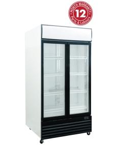 Exquisite DC1000P Two Glass Doors Upright Display Refrigerators
