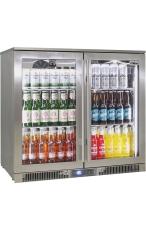RHINO ENV2H-SS Outdoor Glass 2 Door Bar Fridge...
