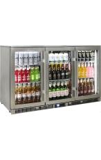 RHINO ENV3H-SS Outdoor Glass 3 Door Bar Fridge...