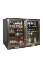 RHINO GSP1H-840-BW Outdoor Glass 2 Door Bar Fri...