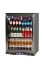 RHINO GSP1HL-840-SS Outdoor Glass Door Bar Frid...