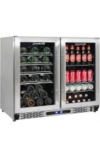 Schmick JC190-GG - Dual Zone Wine & Beer Ba...