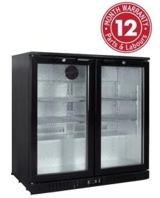Exquisite UBC210L Two Swing Doors Backbar Display Refrigerators