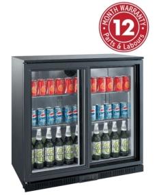 Exquisite UBC210S Two Sliding Doors Backbar Display Refrigerators